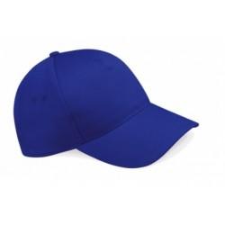 casquette 5 panneaux bleu royal