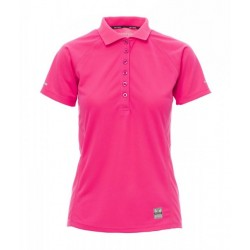 polo manches courtes femme polyester rose avant