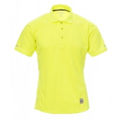 polo manches courtes homme polyester jaune fluo avant