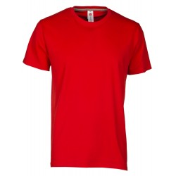 tee-shirt manches courtes homme Rouge