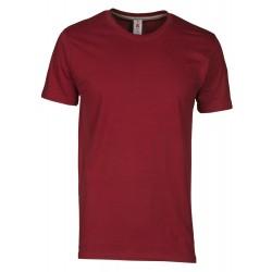 tee-shirt manches courtes homme Bordeaux