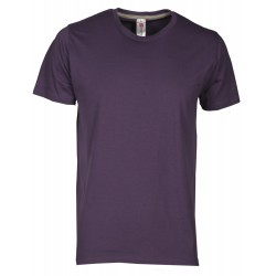 tee-shirt manches courtes homme Violet