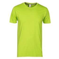 tee-shirt manches courtes homme Vert acide