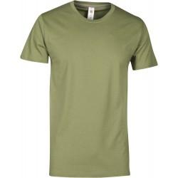 tee-shirt manches courtes homme Vert kaki