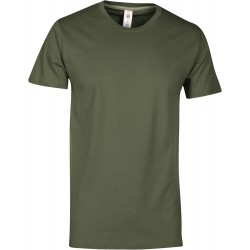 tee-shirt manches courtes homme Vert militaire