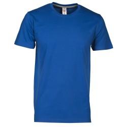 tee-shirt manches courtes homme Bleu roi