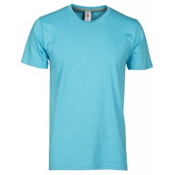 tee-shirt manches courtes homme Bleu atoll