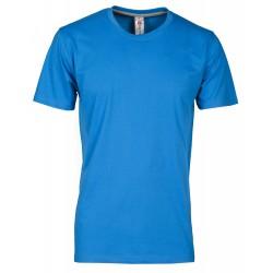 tee-shirt manches courtes homme Bleu roi clair