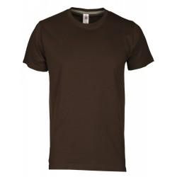 tee-shirt manches courtes homme Marron