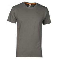 tee-shirt manches courtes homme Gris foncé